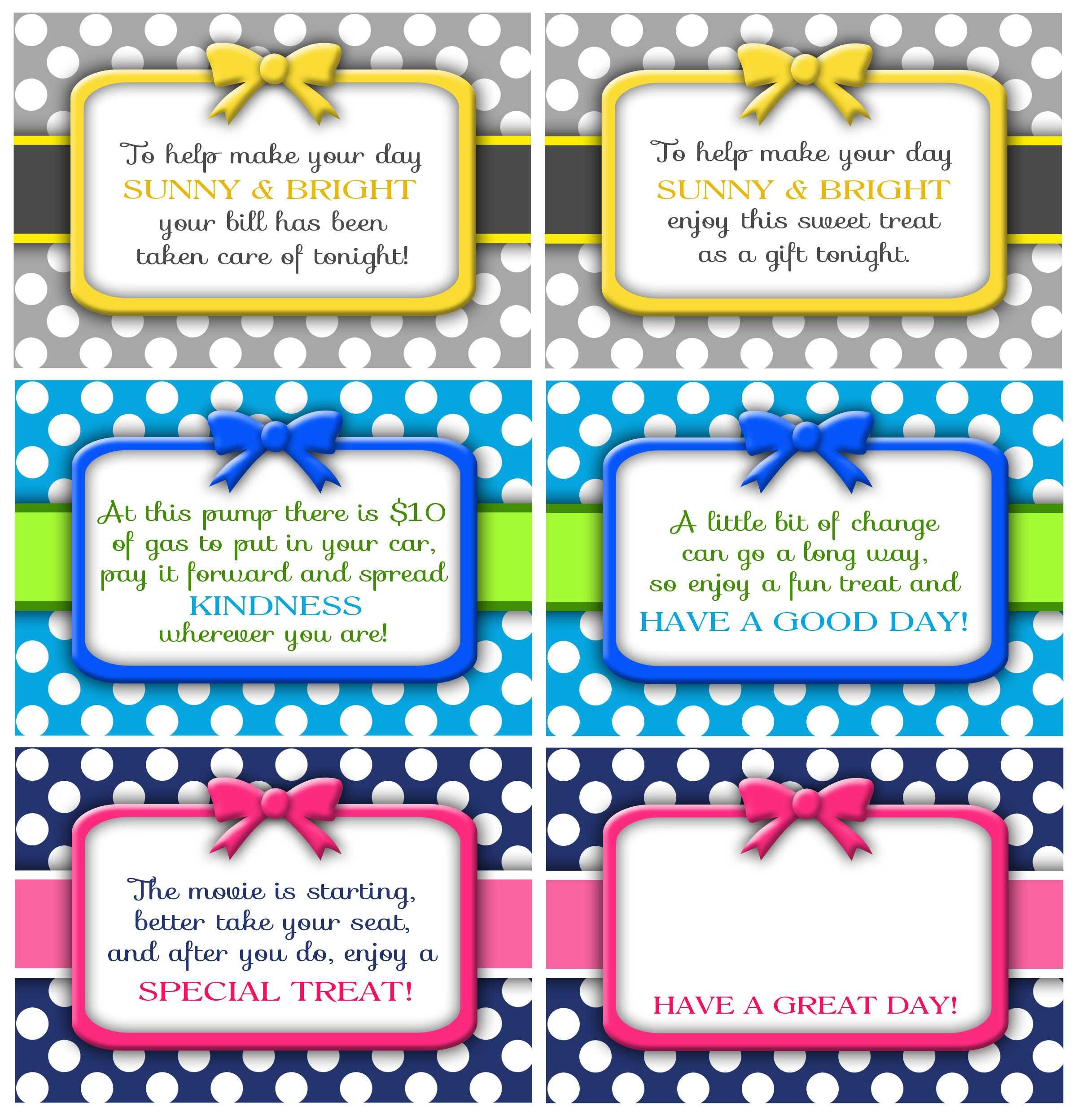 Random Acts Of Kindness Cards - Darling Doodles with Random Acts Of Kindness Cards Templates