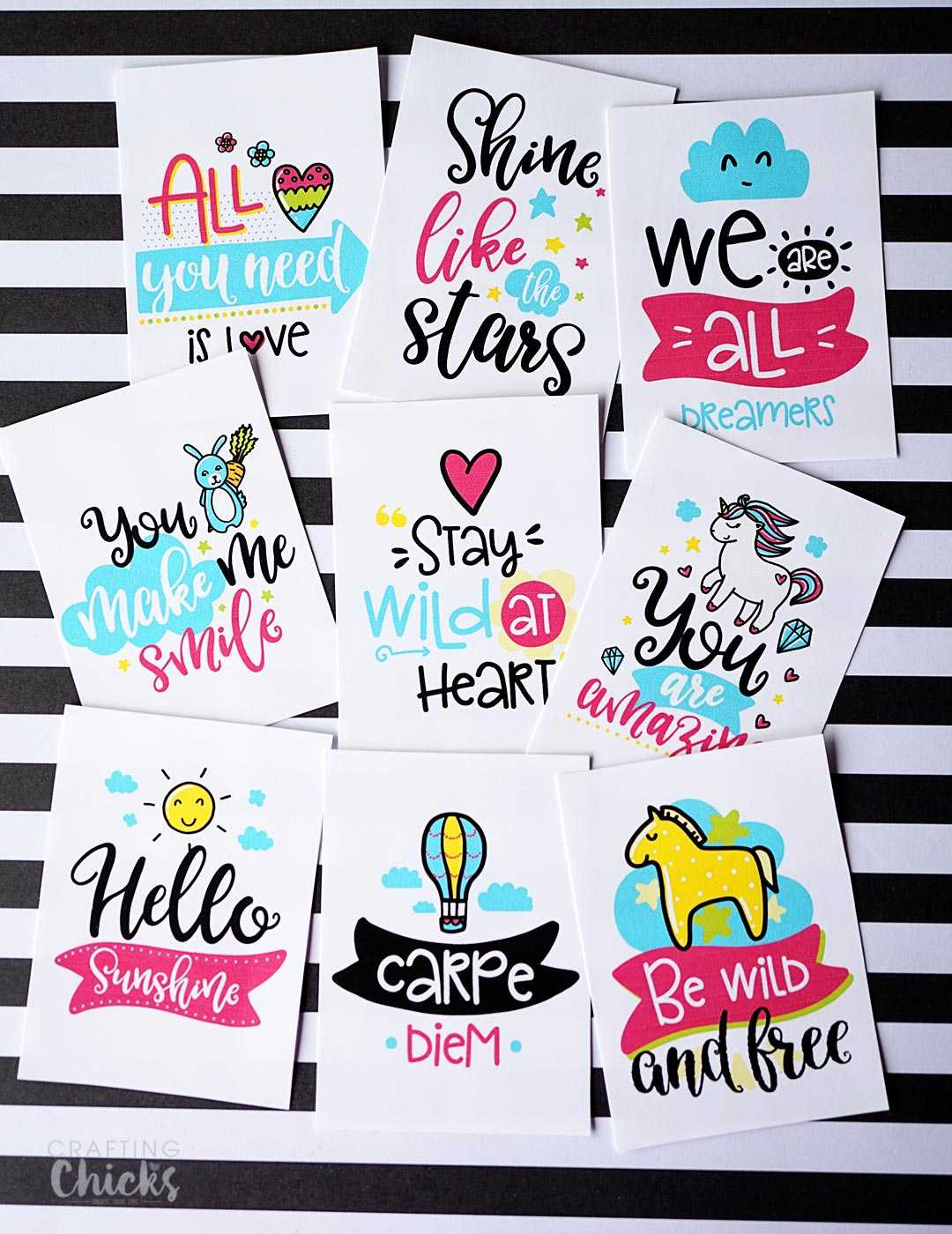 Random Acts Printable Kindness Cards - The Crafting Chicks with Random Acts Of Kindness Cards Templates