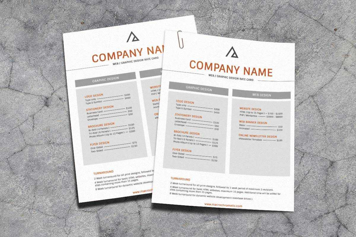 Rate Card Template 650*433 - Rate Card Template Rate Card with Rate Card Template Word