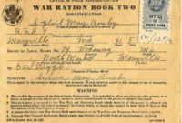 Ration Books | The National Wwii Museum | New Orleans regarding World War 2 Identity Card Template