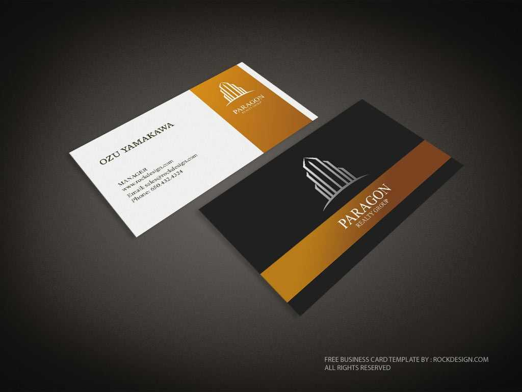 Real Estate Business Card Template | Download Free Design Intended For Real Estate Business Cards Templates Free