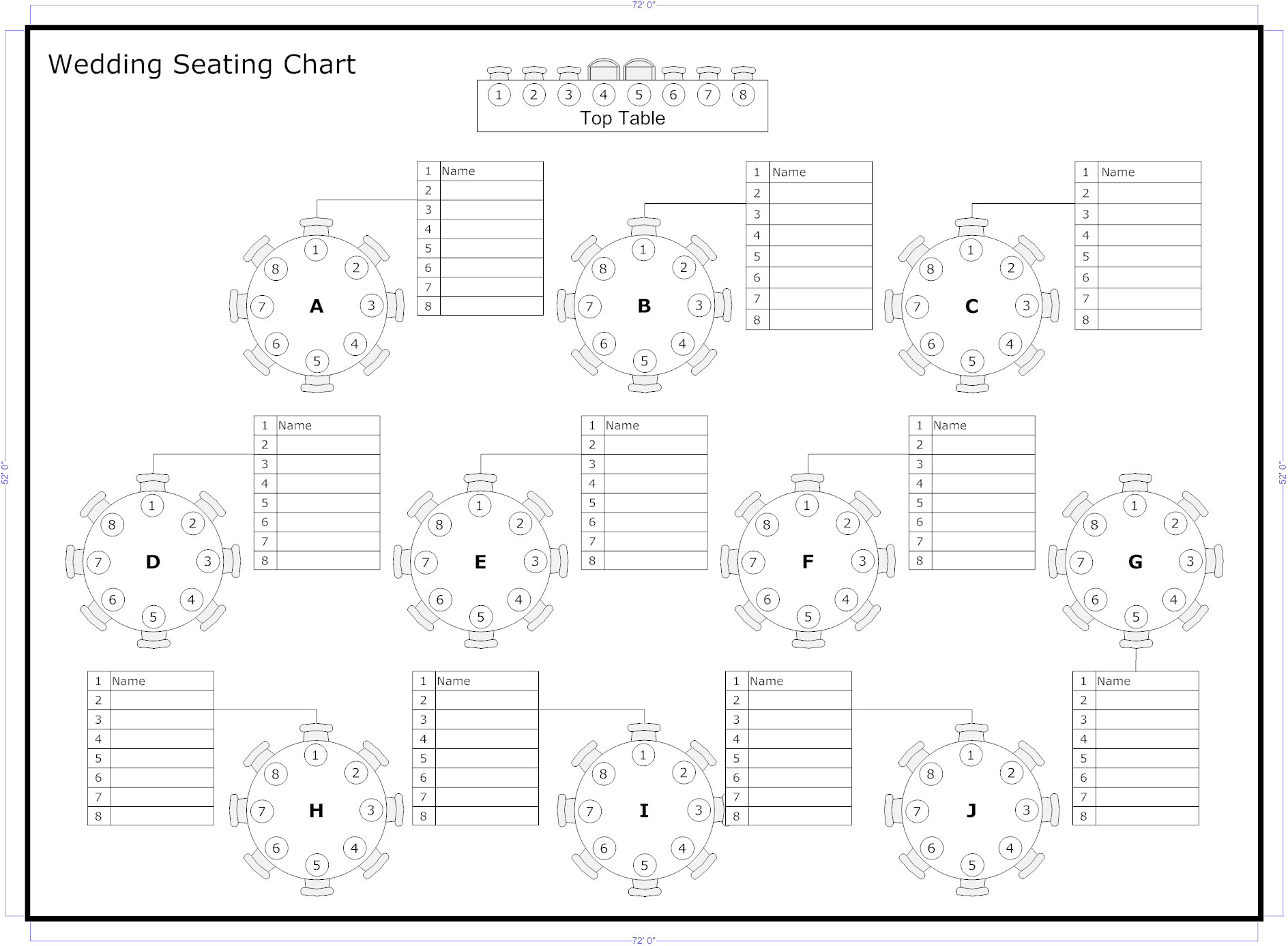 Reception Seating Charts 101 In 2019 | Seating Chart Wedding Intended For Wedding Seating Chart Template Word