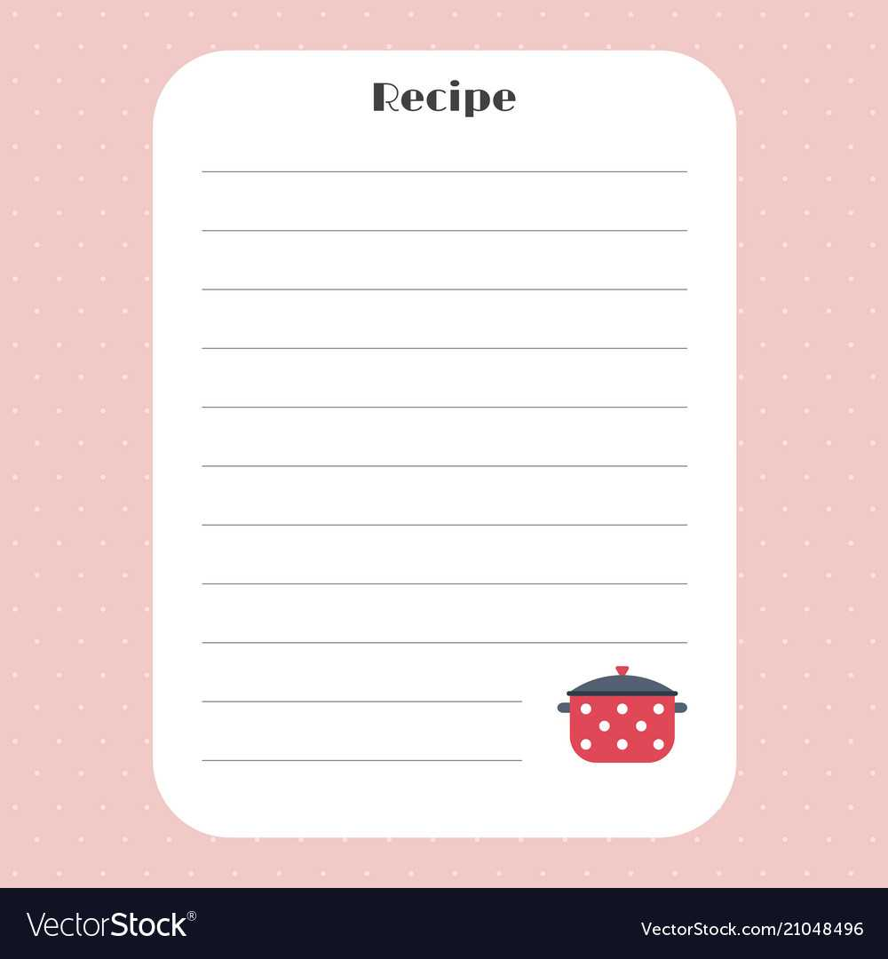 Recipe Card Template For Restaurant Cafe Bakery In Restaurant Recipe Card Template