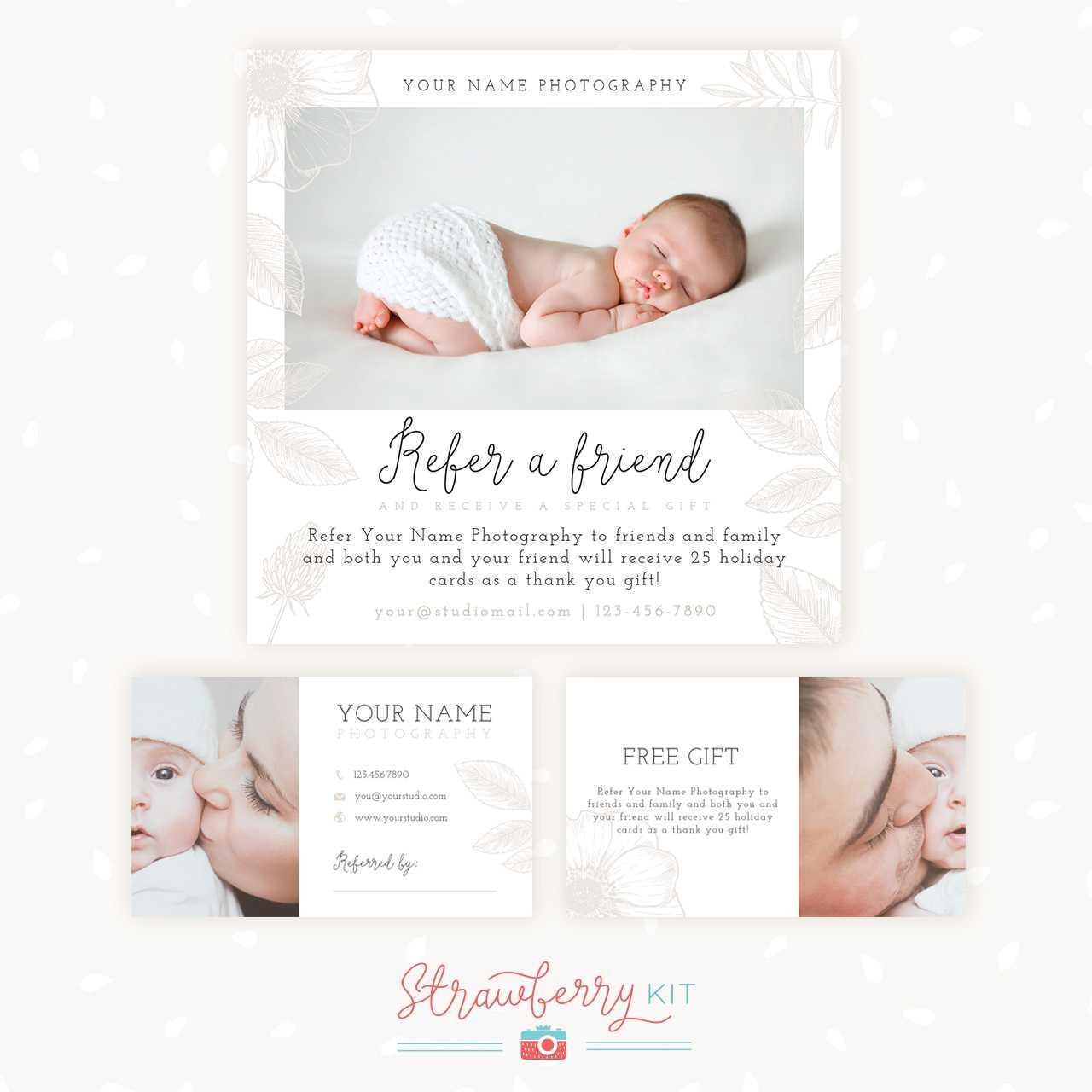 Refer A Friend Photography Template | Bonus Business Cards regarding Photography Referral Card Templates