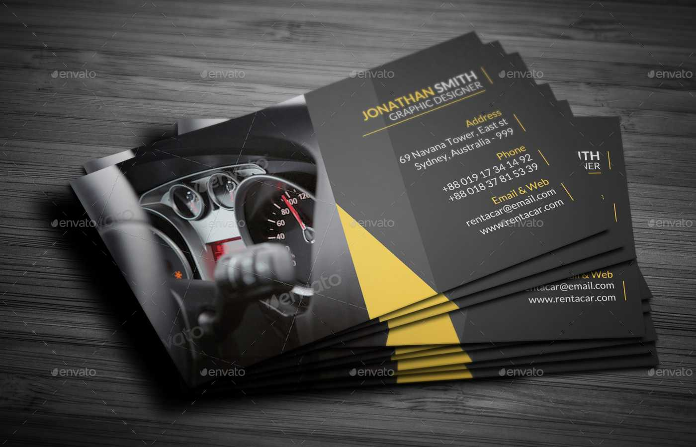 Rent A Car Business Card inside Automotive Business Card Templates