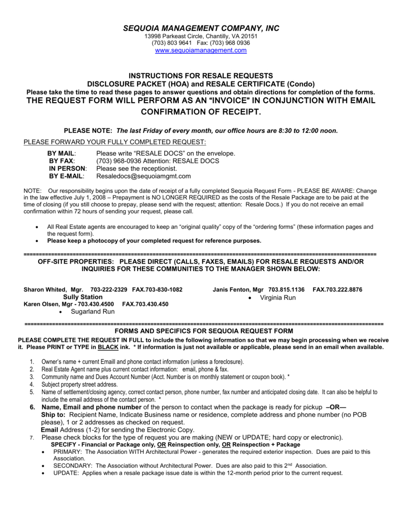 Resale Document Request Form - Centreville Community Foundation within Resale Certificate Request Letter Template