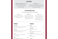 Restaurant Menu Template – 5 Free Templates In Pdf, Word regarding Free Cafe Menu Templates For Word