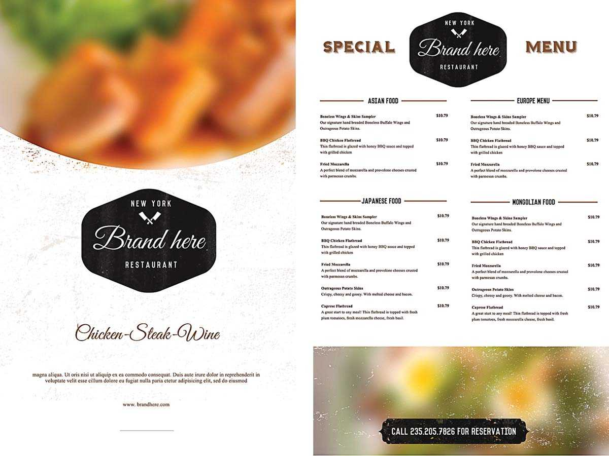 Restaurant Menu Templates Free Download With Dinner Plus throughout Free Cafe Menu Templates For Word