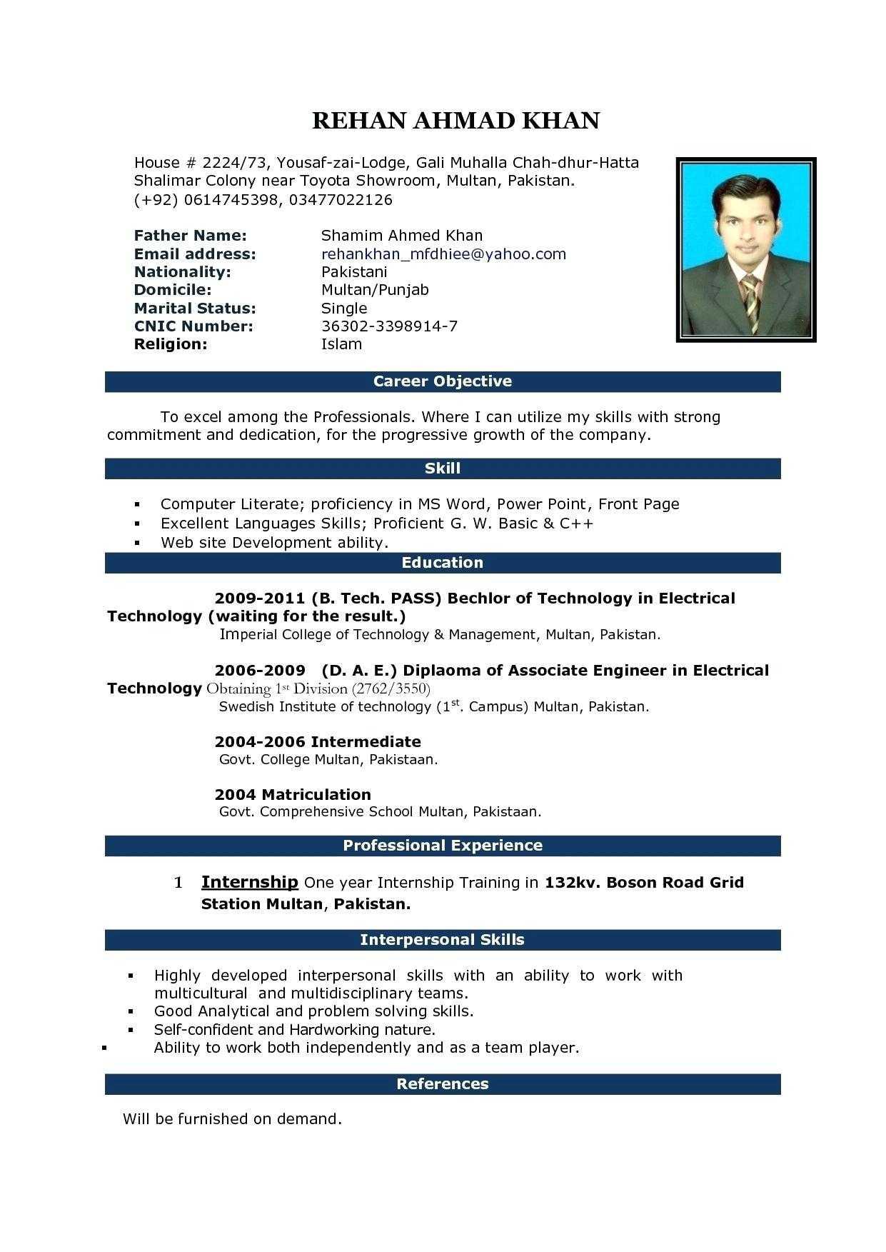 Resume: Resume Template On Microsoft Word 2010 Throughout Resume Templates Microsoft Word 2010