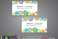 Rodan And Fields Business Cards, Rodan And Fields Digital Files, Rodan +  Fields Printable Card, R And F Marketing Cards, Rf08 Soldelisazone intended for Rodan And Fields Business Card Template