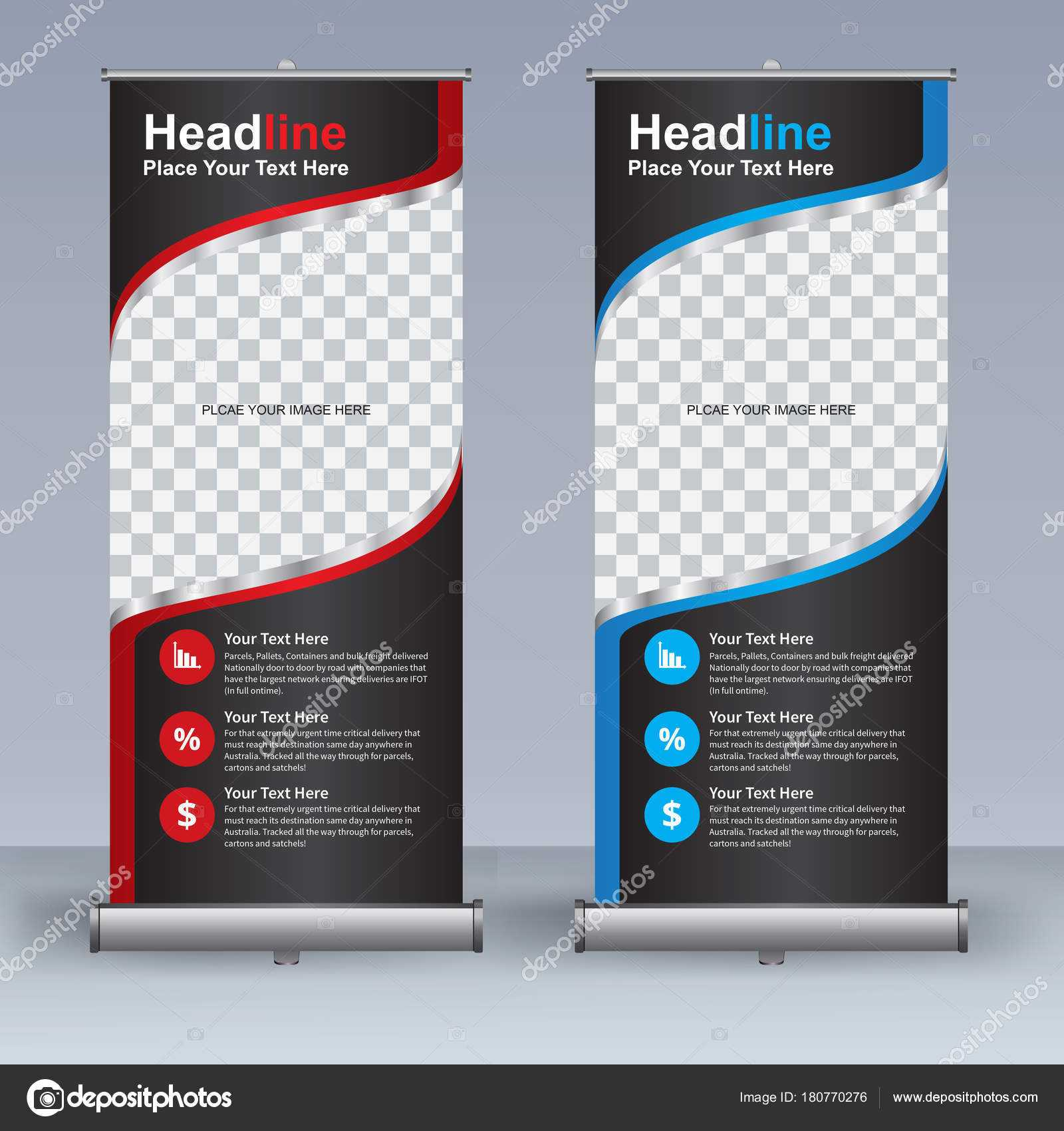 Roll Banner Design Template Vertical Abstract Background inside Retractable Banner Design Templates