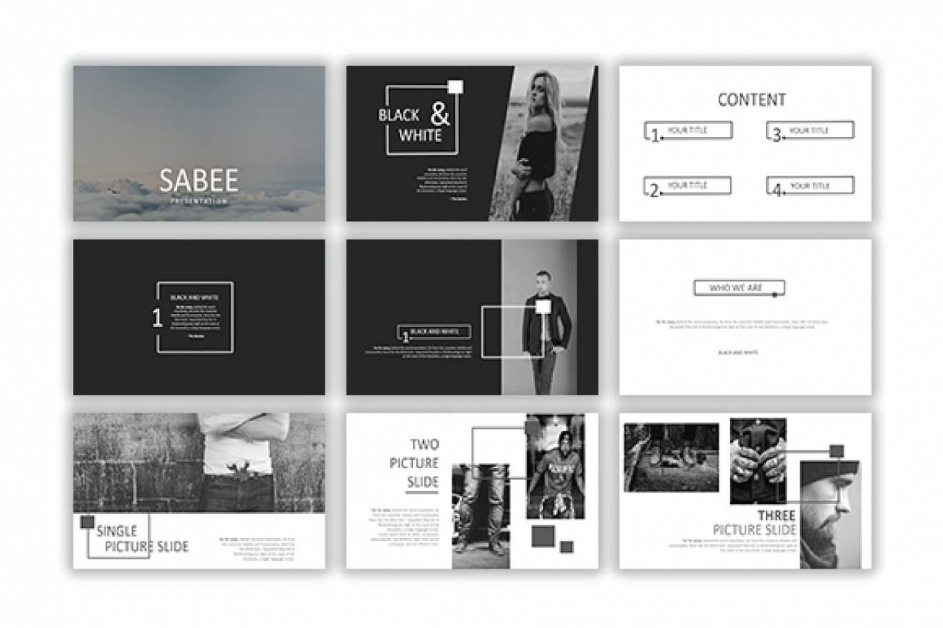 Sabee Powerpoint Template Free Download – Just Free Slides intended for Powerpoint Photo Slideshow Template