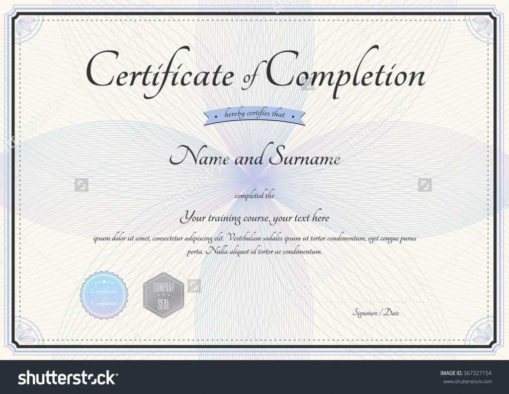 Sample Certificate Of Ojt Completion Example Template Word inside Certificate Of Completion Free Template Word