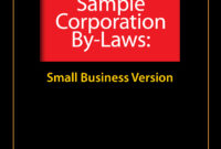 Sample Corporate Bylaws – Evergreen Small Business with regard to Corporate Bylaws Template Word