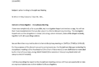 Sample Letter Inviting To Disciplinary Meeting | Templates At within Investigation Report Template Disciplinary Hearing