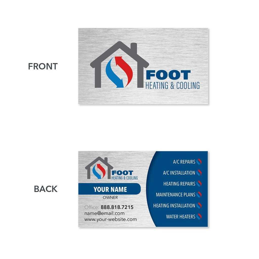 Sample Of Visiting Cards Hvac Business Card B41 1024×1024 inside Hvac Business Card Template