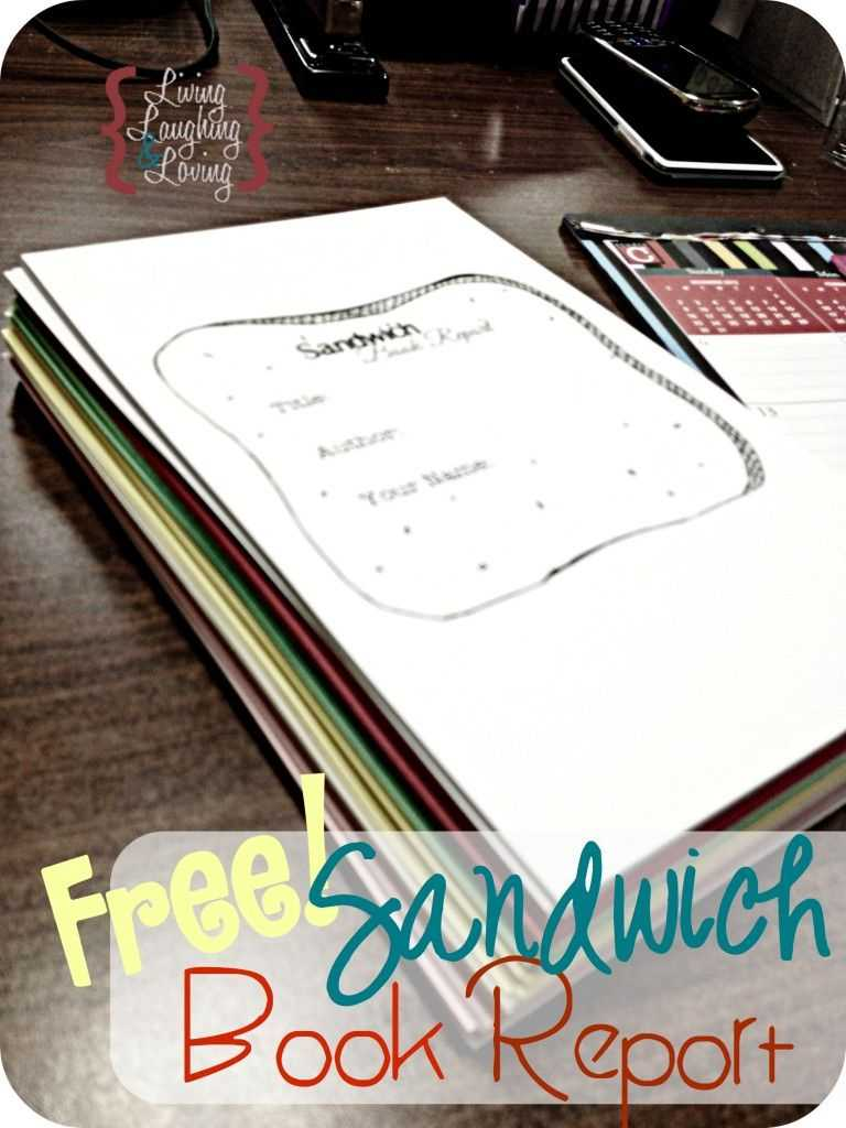 """Sandwich Book Report"""" Template For A Book About A Famous Inside Sandwich Book Report Template"""