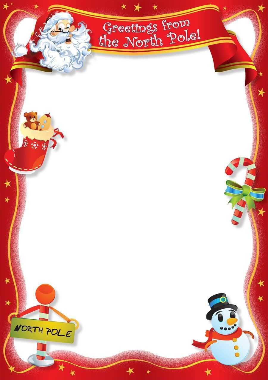Santa Blank Lettersangrafix | Santa Letter Template Regarding Christmas Note Card Templates