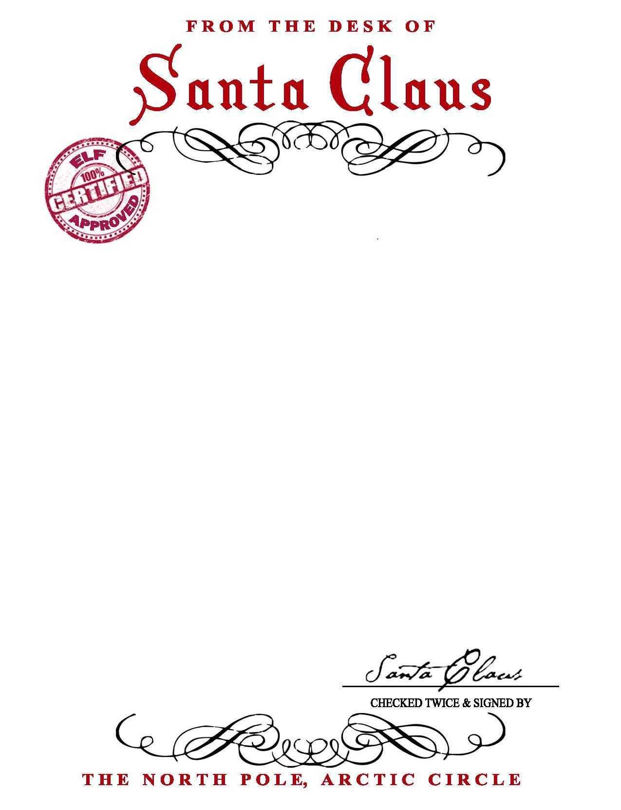 Santa Claus Letterhead.. Will Bring Lots Of Joy To Children Regarding Letter From Santa Template Word