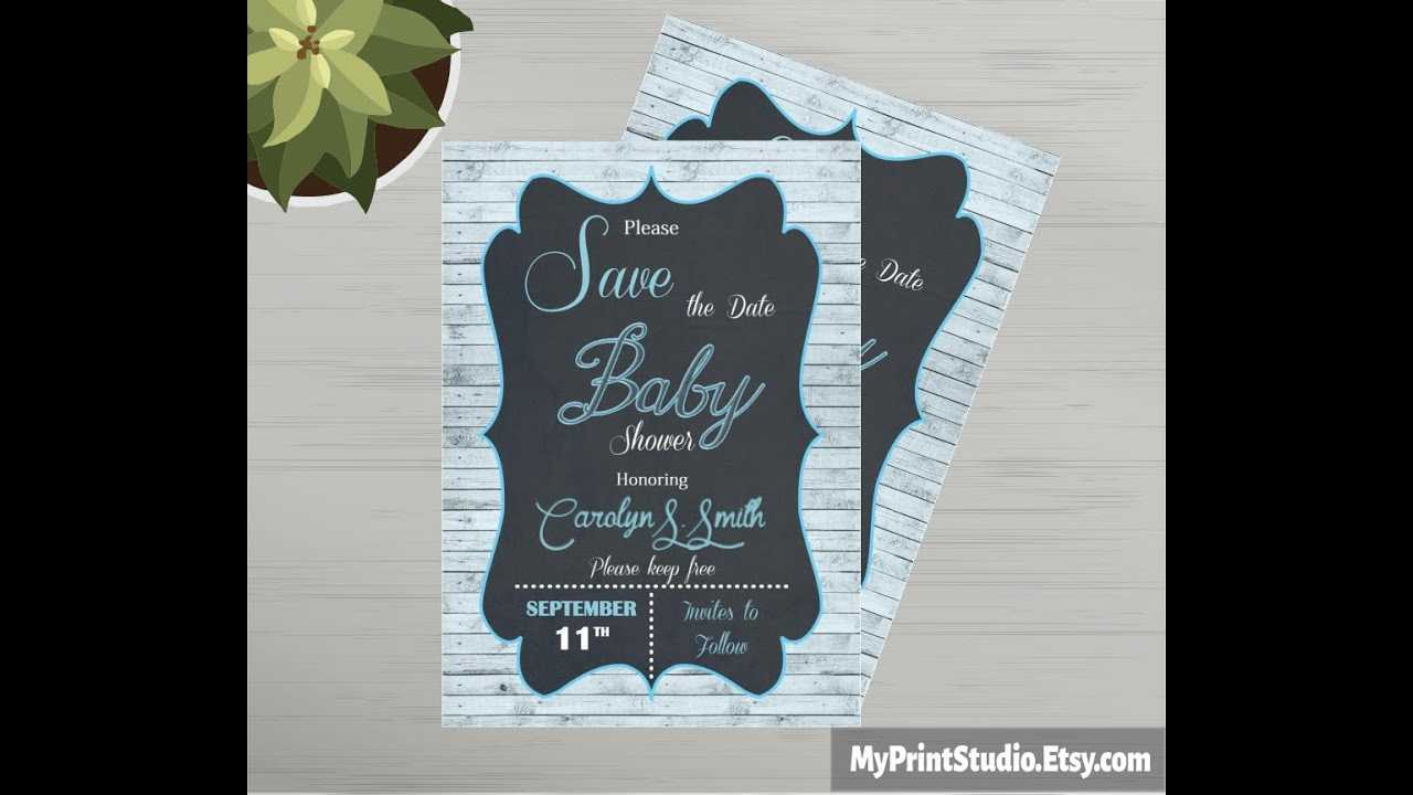 Save The Date Baby Shower Card Template Made In Ms Word throughout Save The Date Templates Word