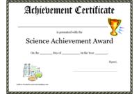 Science Fair Award Certificate Award Certificate Download inside Academic Award Certificate Template