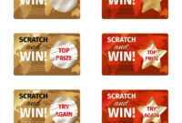 Scratch Card Design Template throughout Scratch Off Card Templates