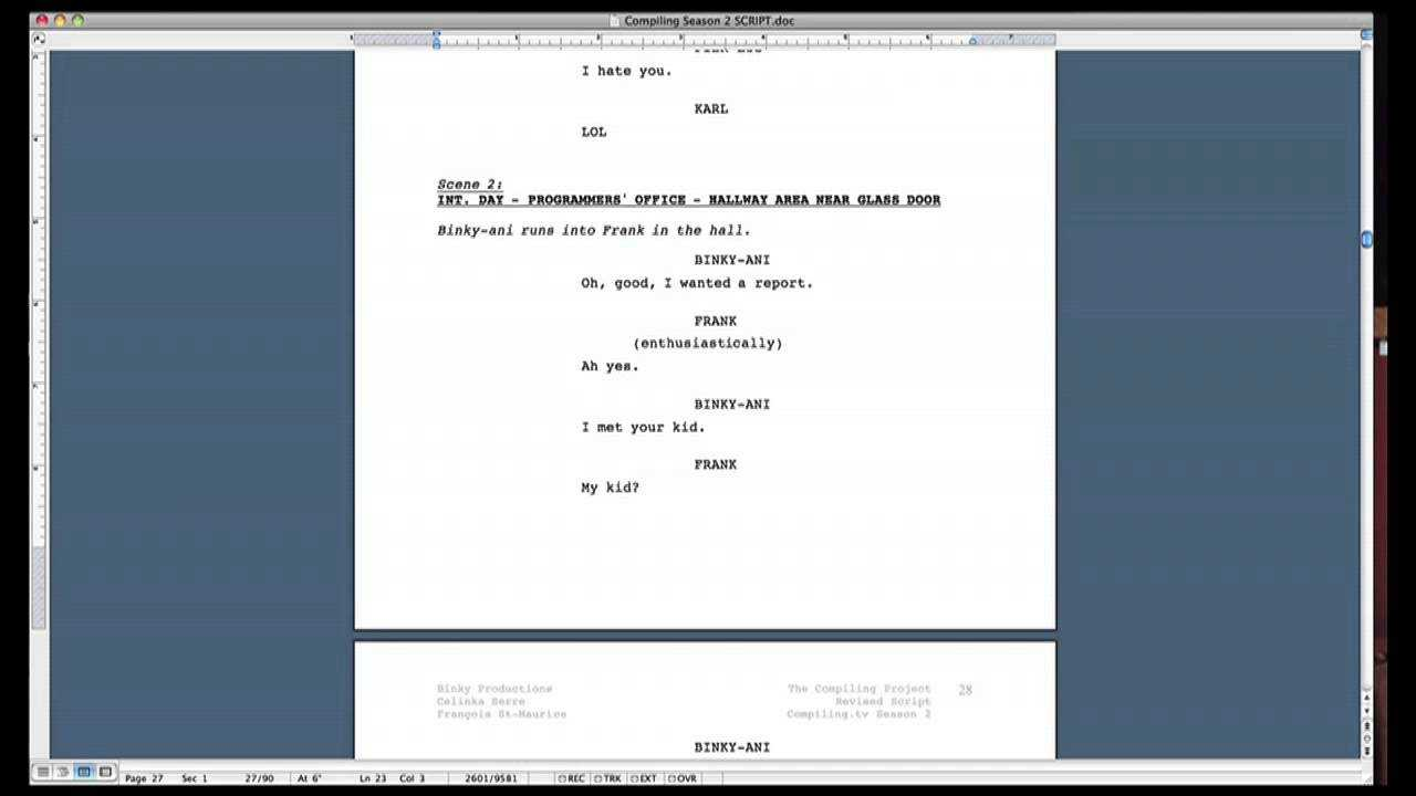 Script Formatting Tips (How To Format A Screenplay In Microsoft Word) Pertaining To Microsoft Word Screenplay Template