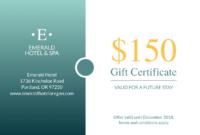 Seaside Hotel Gift Certificate Template | Gift Certificate with Gift Certificate Template Indesign