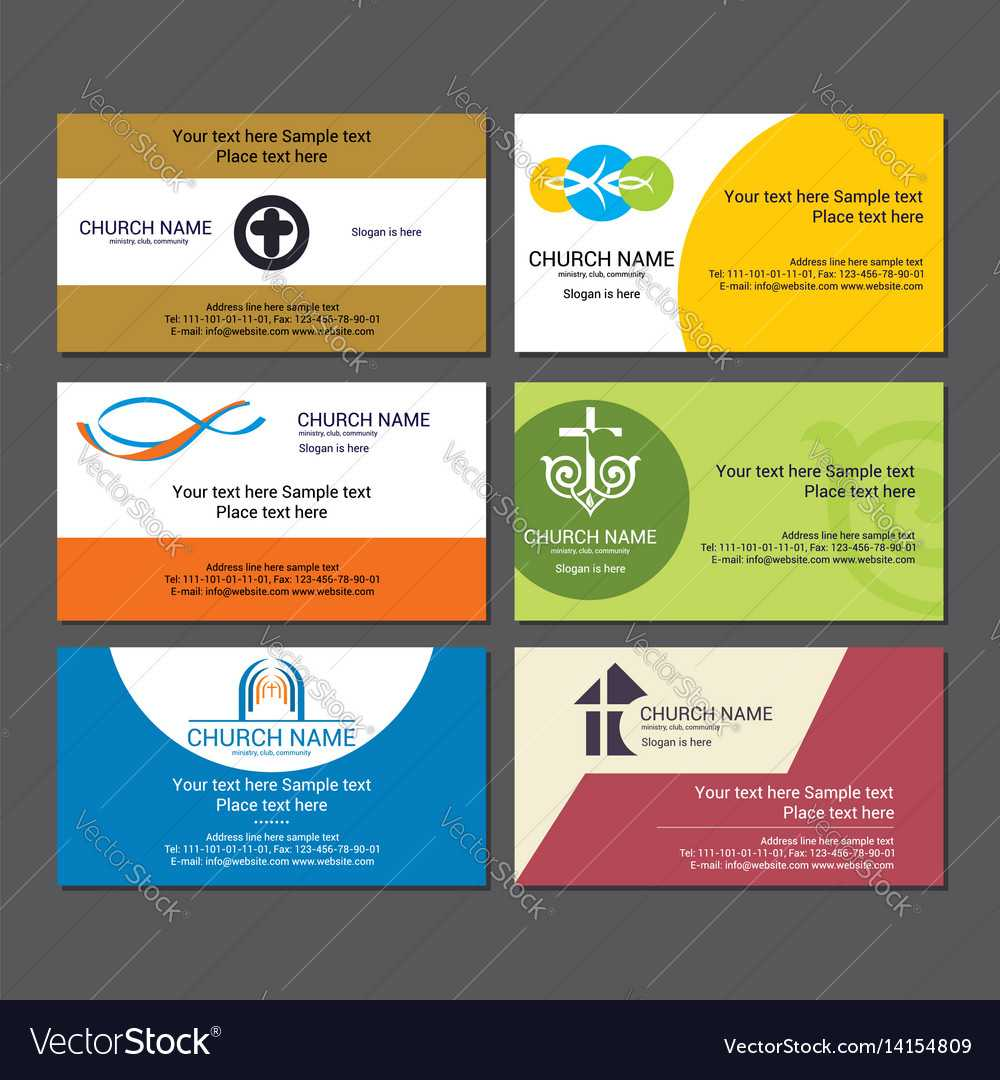Set Christian Business Cards For The Church Throughout Christian Business Cards Templates Free