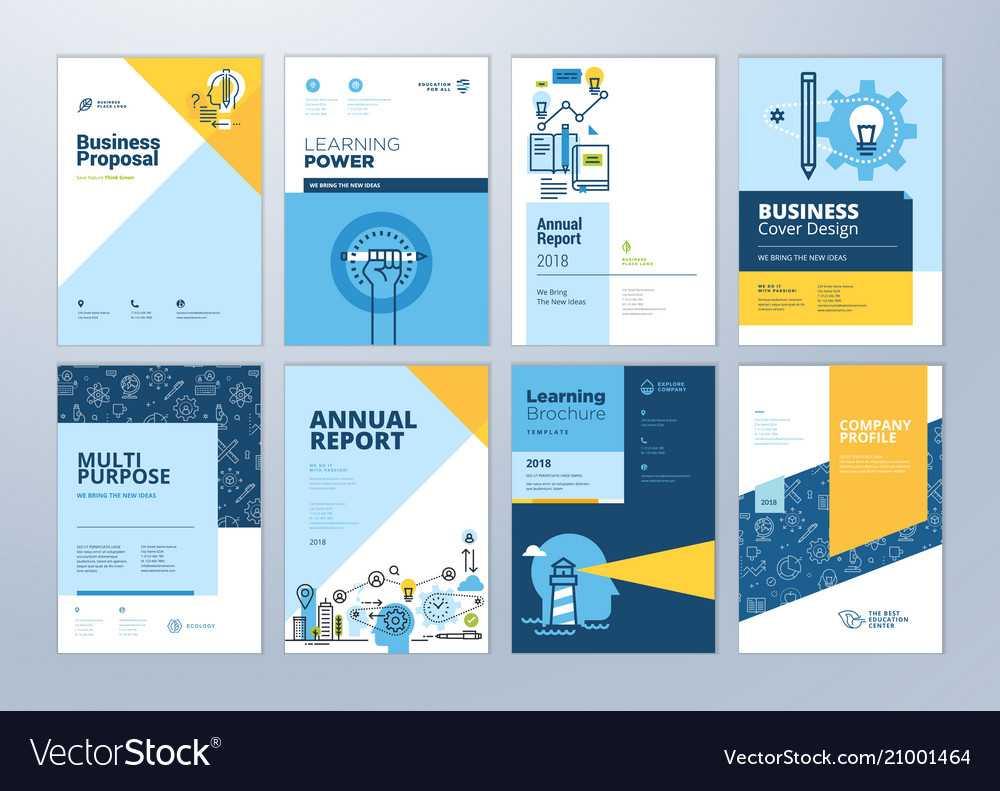 Set Of Brochure Design Templates Of Education Inside Brochure Design Templates For Education
