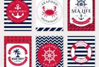 Set Of Nautical And Marine Banners And Flyers. Elegant Card Templates.. Pertaining To Nautical Banner Template