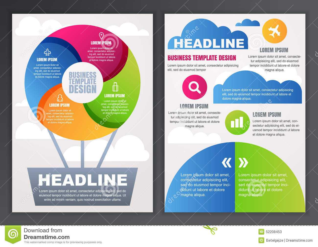 Set Of Vector Design Template For Business, Brochure, Flyer pertaining to Online Brochure Template Free