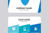 Shield Business Card Design Template, Visiting For Your With Shield Id Card Template
