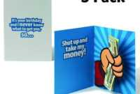 Shut Up And Take My Money Pop Up Card – Birthday (Pack Of 3 intended for Shut Up And Take My Money Card Template