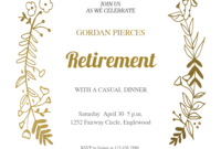 Sideside Gold – Free Retirement & Farewell Party with Farewell Certificate Template