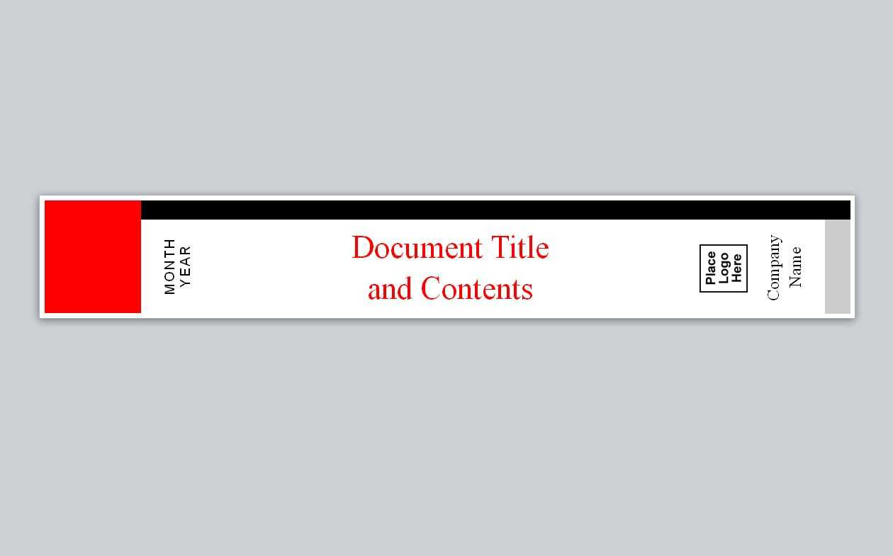 Similar To Avery Binder Spine Template Regarding Binder Spine Template Word