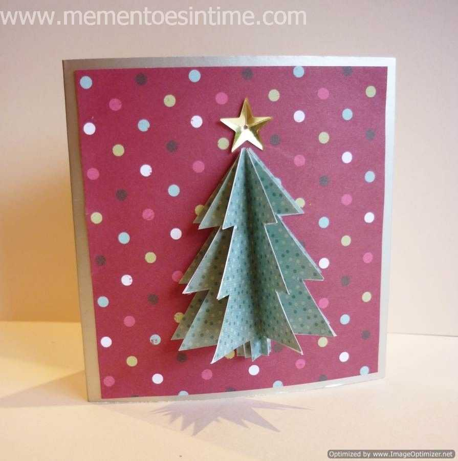 Simple 3D Christmas Card | Cut & Paste | Christmas Card With Regard To 3D Christmas Tree Card Template