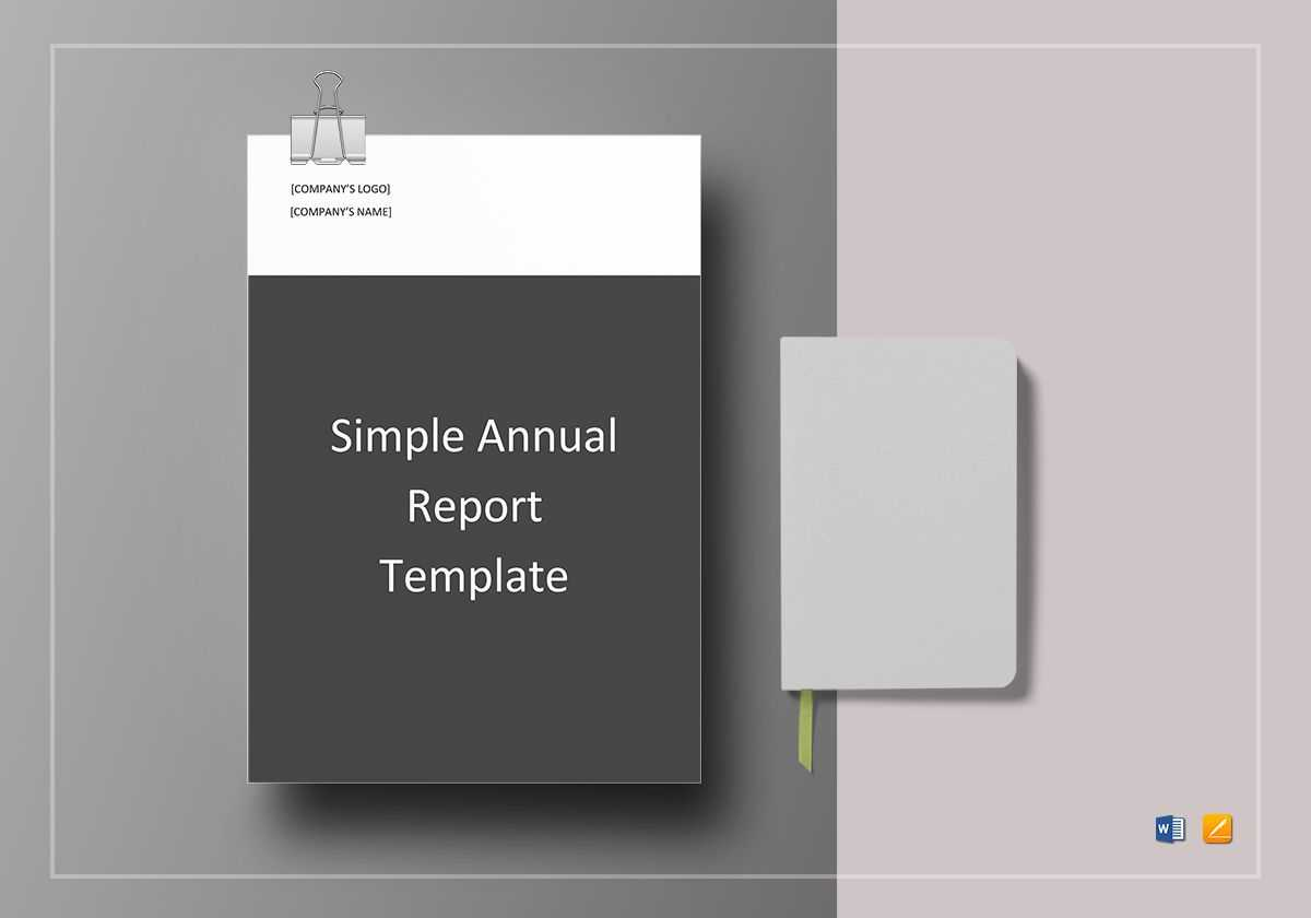 Simple Annual Report Template within Simple Report Template Word