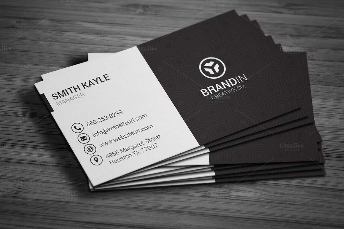 Simple Black & White Business Cardmadearslan On Throughout Black And White Business Cards Templates Free