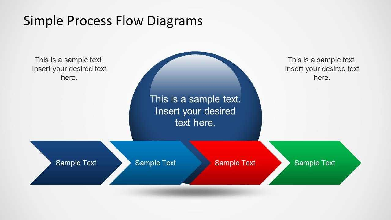 Simple Chevron Process Flow Diagram For Powerpoint | Ideas with Powerpoint Chevron Template