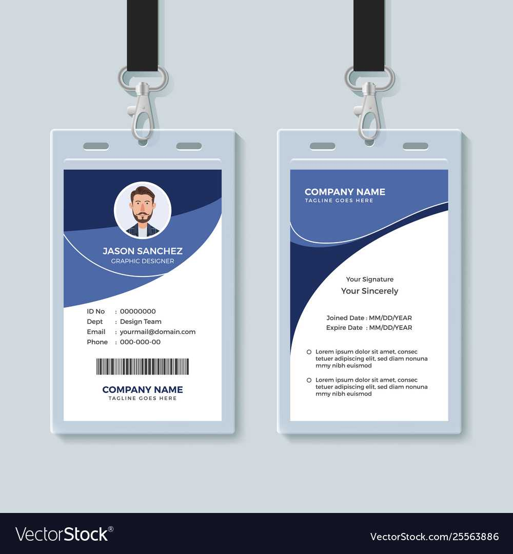Simple Corporate Id Card Design Template Throughout Company Id Card Design Template