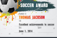 Soccer Certificate Template – Atlantaauctionco in Soccer Certificate Templates For Word