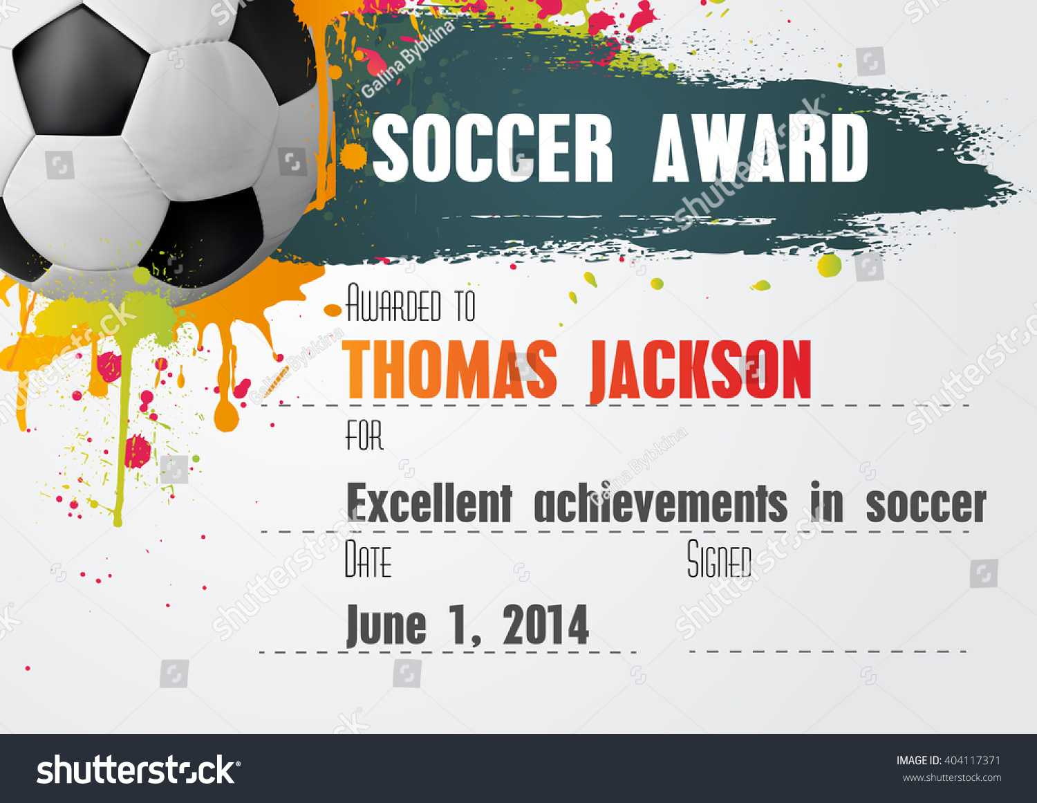 Soccer Certificate Template - Atlantaauctionco in Soccer Certificate Templates For Word