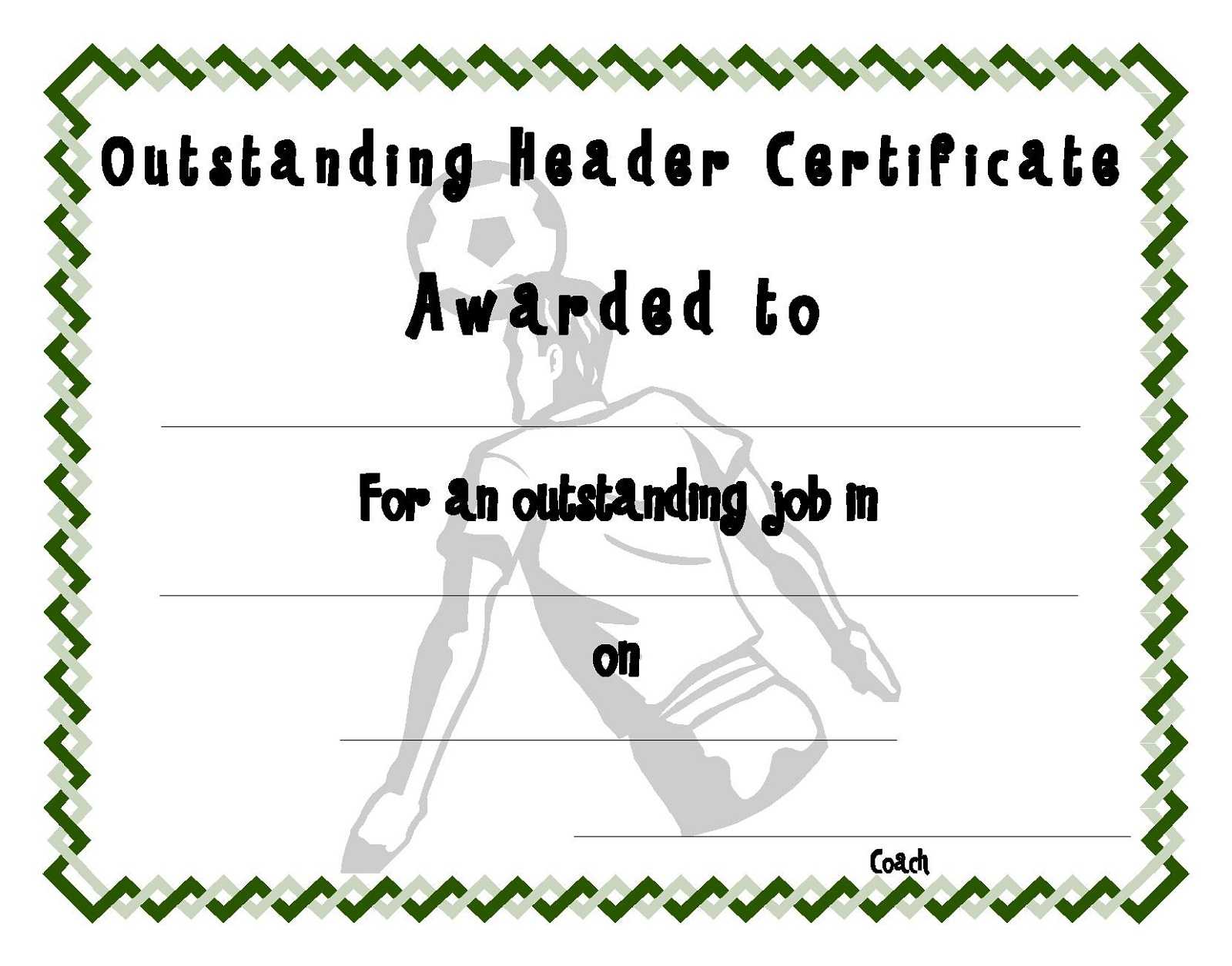 Soccer Certificate Templates | Activity Shelter in Soccer Certificate Template