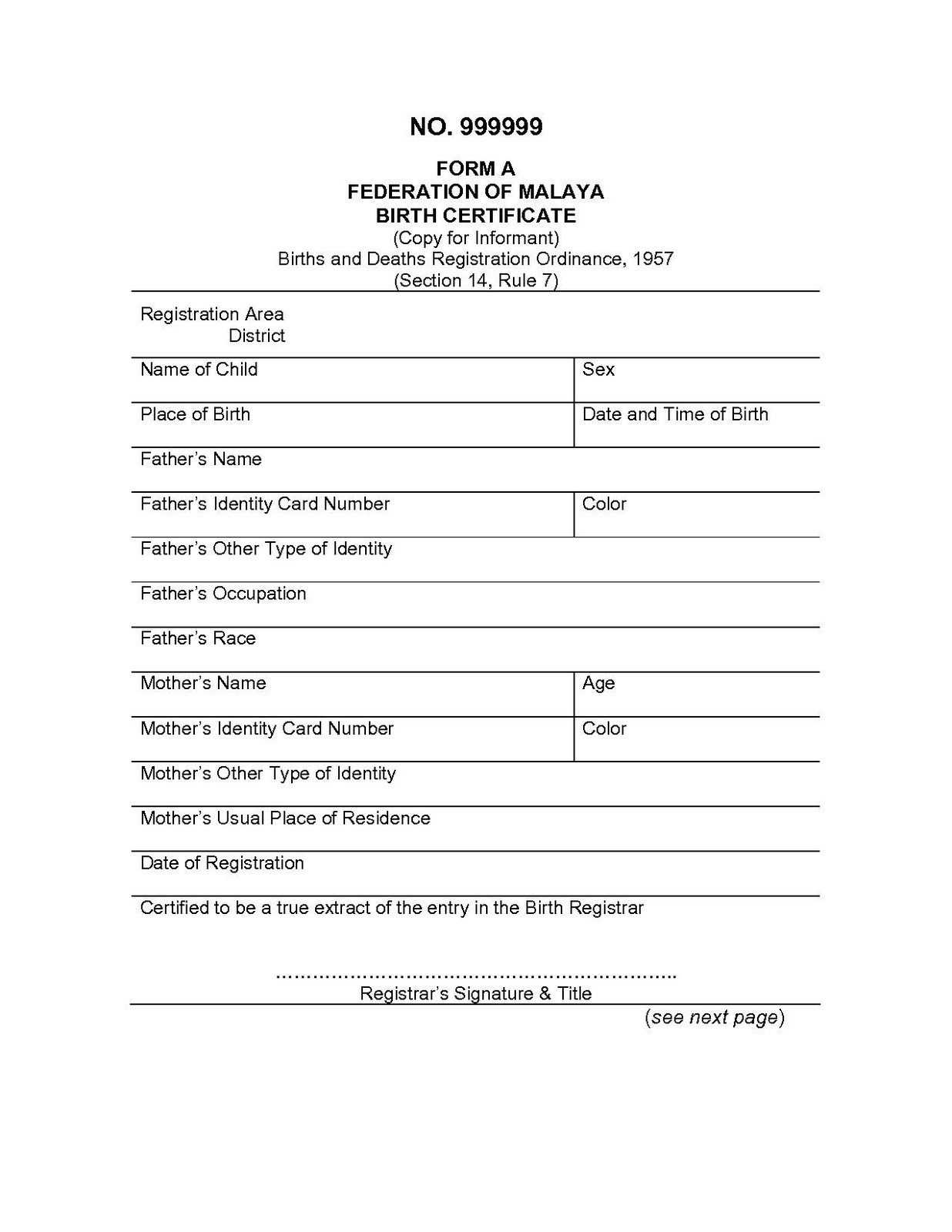 Spanish To English Birth Certificate Translation Template Intended For Birth Certificate Translation Template English To Spanish