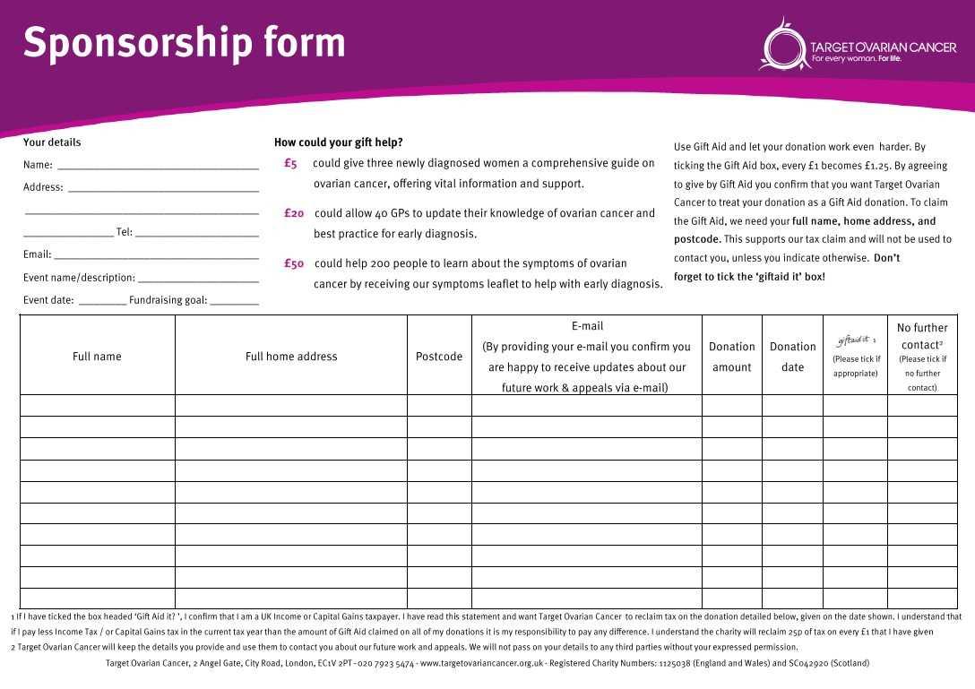 Sponsorship Sheet Template. While We 39 Re Livin In A Box We regarding Blank Sponsorship Form Template