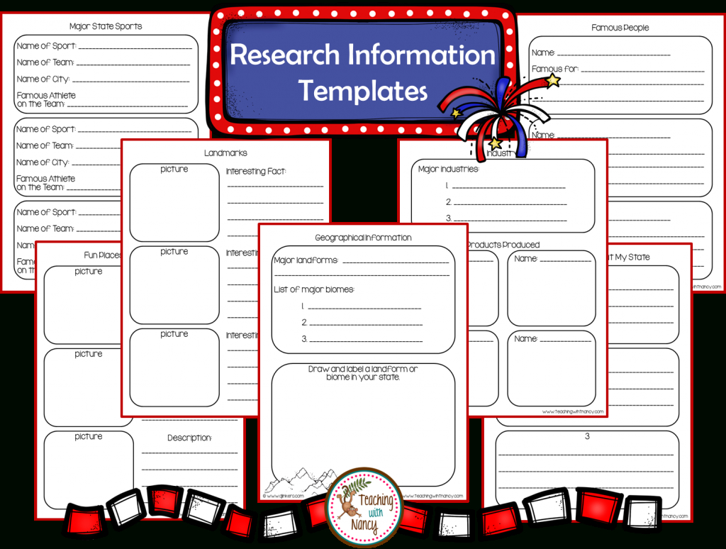 State Report Research Project Made Easy! | Teaching With Nancy with regard to State Report Template