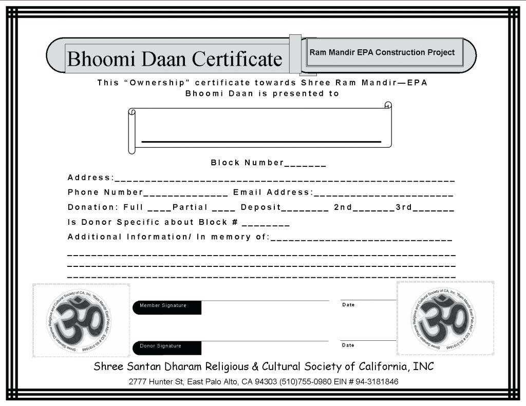 Stock Gift Receipt Template 650*502 - Ownership Certificate intended for Ownership Certificate Template