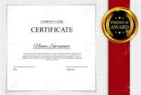 Stock Illustration In Manager Of The Month Certificate Template