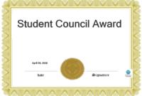 Student Council Award | Templates At Allbusinesstemplates for Free Student Certificate Templates